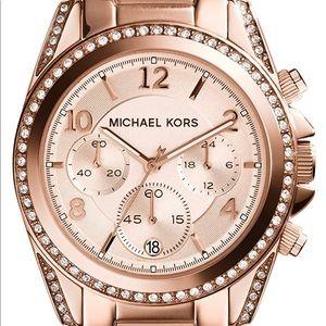 "Michael Kors ""Blair"" Chronograph Watch Rose Gold"